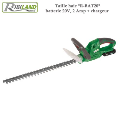 Taille haie R-BAT2 - batterie 20V, 2 Amp + chargeur