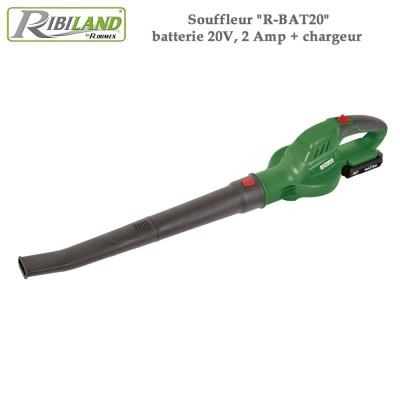 Souffleur R-BAT20 - batterie 20V, 2 Amp + chargeur