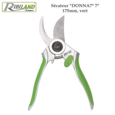 "Sécateur Donna7 - 7"", 175mm, vert"