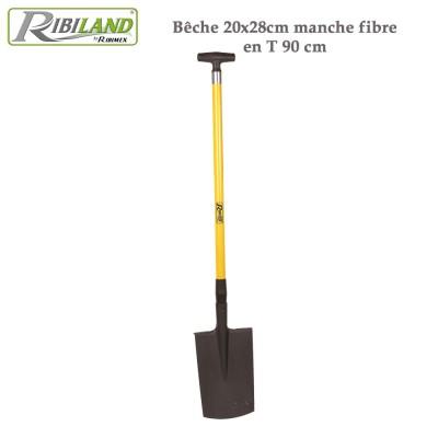 Bêche 20x28cm manche fibre en T 90 cm