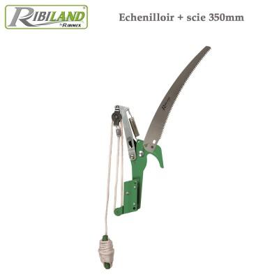 Échenilloir avec scie coupe branches 350 mm