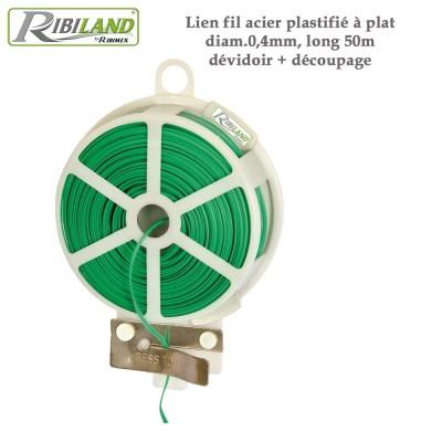 Liens de fixation plastifié 0.4 mm - 50m