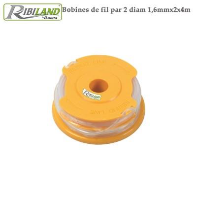 Fil nylon coupe bordure - Diam 1,6 mm x 2x4m - Lot de 4