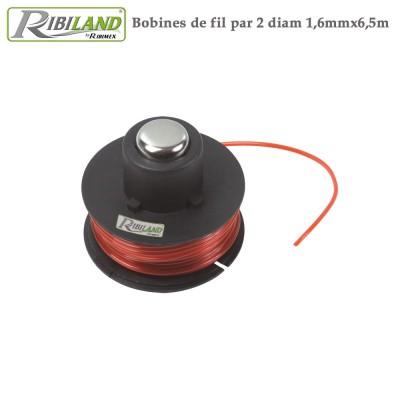 Fil nylon coupe bordure - Diam 1,6 mm x 6,5m - Lot de 10