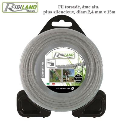Fil 15 m Alu pour débroussailleuse 2.4 mm