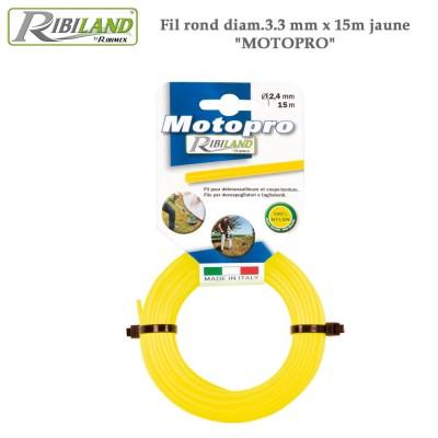 Fil rond HD 15 m débroussailleuse 3.3 mm - Lot de 2