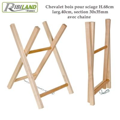 Chevalet à bûches en bois H 68 cm
