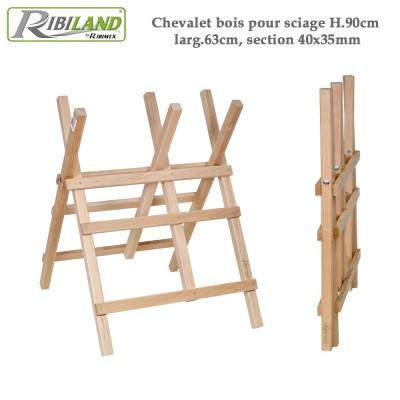 Chevalet à bûches en bois H 90 cm