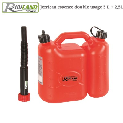 Jerrican essence double usage 5 L + 2,5L