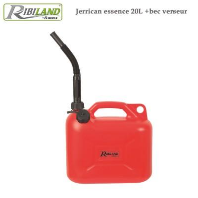 Jerrican essence 20 litres + bec verseur