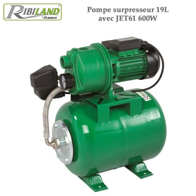 Pompe surpresseur 19L avec JET61 600W