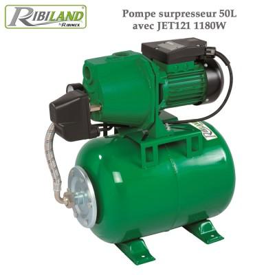 Pompe surpresseur 50L avec JET121 1180W