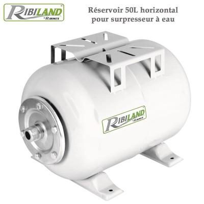 Réservoir pour surpresseur à eau 50L horizontal