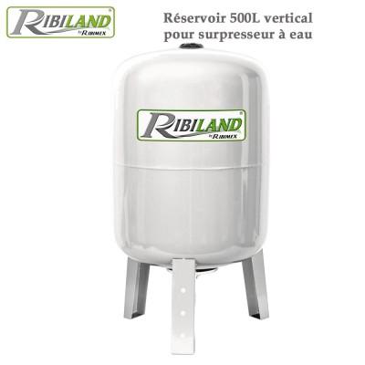 Réservoir pour surpresseur à eau 500L vertical