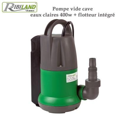 Pompe vide cave eaux claires 400w + flotteur intégré
