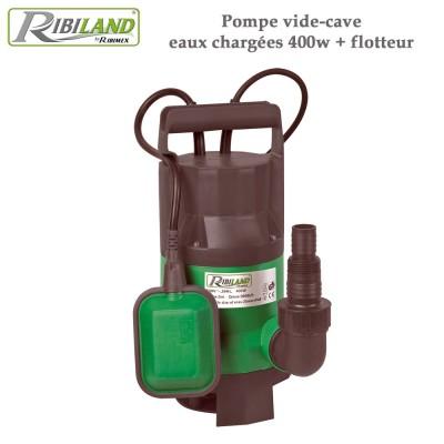 Pompe vide-cave eaux chargées 400w + flotteur