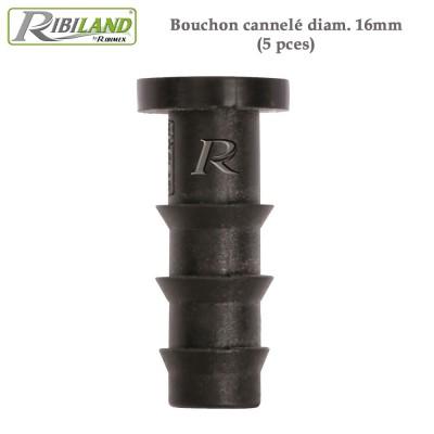 Raccords bouchon diam. 16 mm - 5 pièces