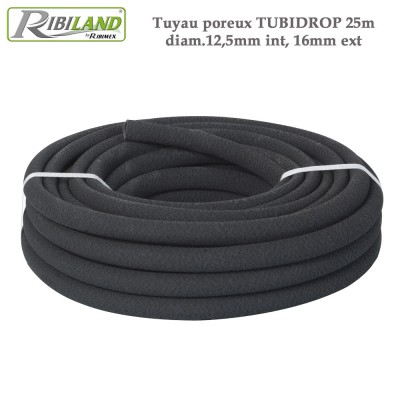 Tuyau poreux Tubidrop 25m diam.12,5mm int, 16mm ext