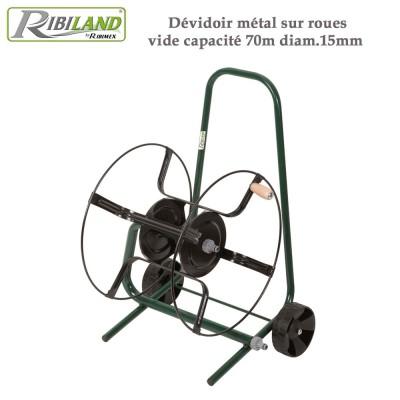 Dévidoir métal sur roues vide