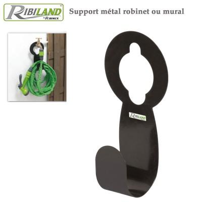 Support métal robinet ou mural pour tuyau