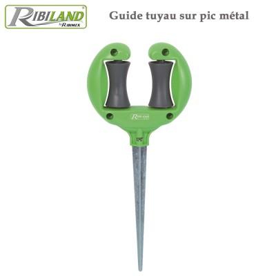 Guide tuyau sur pic métal - Lot de 2