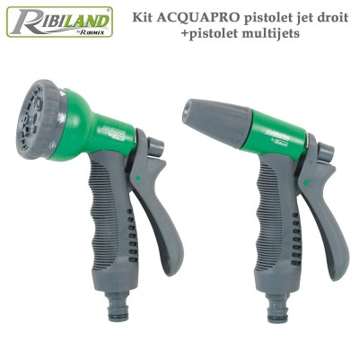 Pistolet jet droit +pistolet multijets - Kit Acquapro