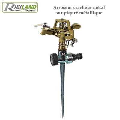 Arroseur pelouse cracheur métal sur piquet métallique