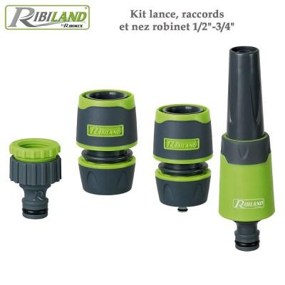 "Kit lance, raccords et nez robinet 1/2""-3/4"""