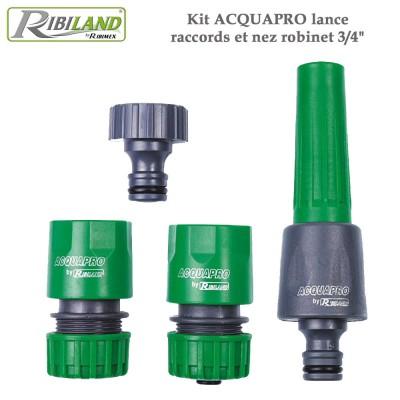 "Kit Acquapro lance, raccords et nez robinet 3/4"""