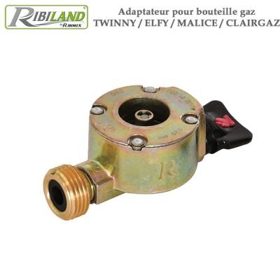 Adaptateur pour bouteille gaz Twinny - Elfy - Malice - Clairgaz