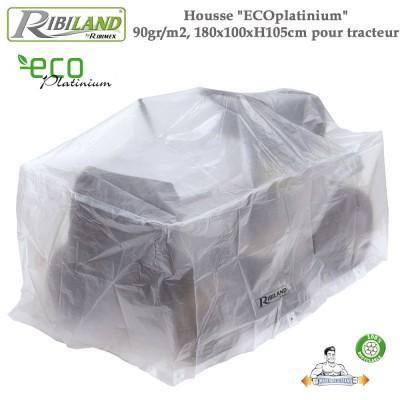 Housse tracteurs Eco-platinium  90gr/m², 180 x 100 x H 105 cm