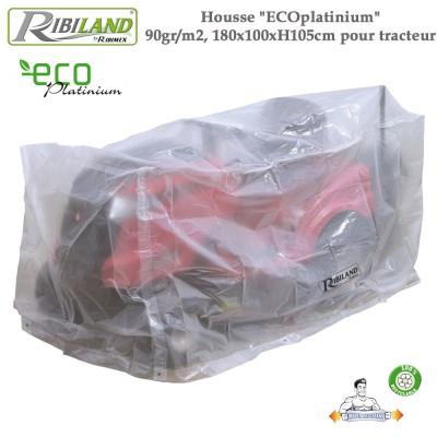 Housse tracteurs avec bac Eco-platinium  90gr/m², 250 x 110 x H 110 cm