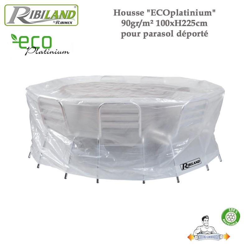 Housse table ronde et chaises 90gr/m² - 200 x H 80 cm