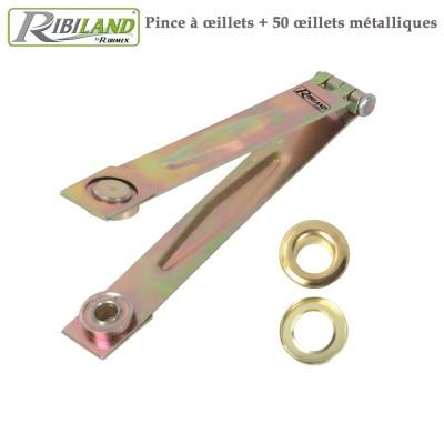 Oeillets métalliques X 50 + pince