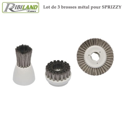 Kit métal pour brosse Sprizzy - 3 pces