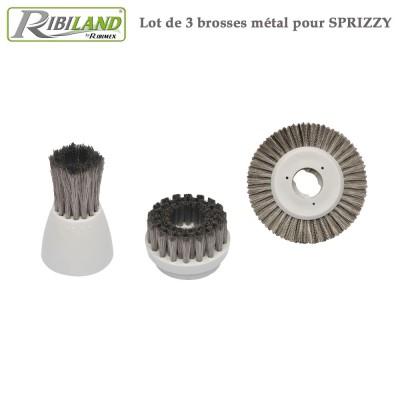 Brosse métal pour Sprizzy - 3 pces