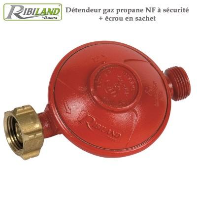 Détendeur gaz propane NF à sécurité + écrou