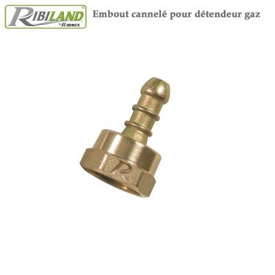 Embout cannelé pour détendeur gaz