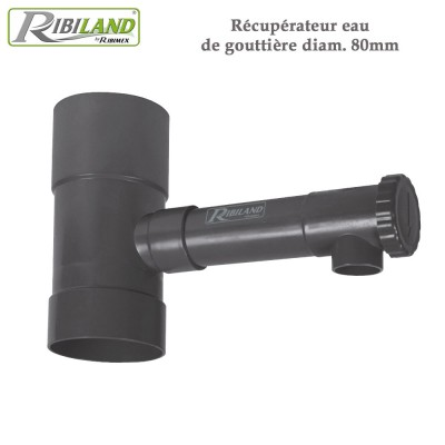 Récupérateur eau de gouttière diam. 80mm
