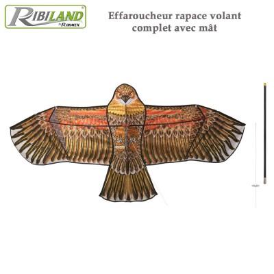Effaroucheur cerf volant faucon avec mat