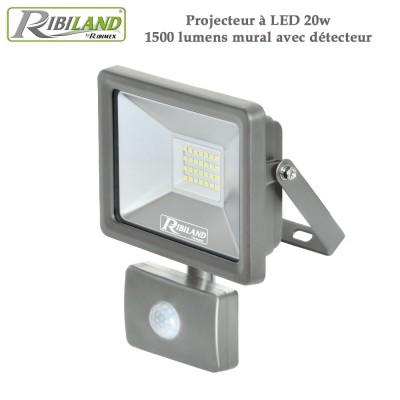 Projecteur à LED 20w 1500 lumens mural avec détecteur