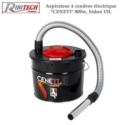 """Aspirateur à cendres électrique """"Ceneti"""" 800w, bidon 15L"""