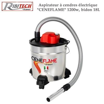 Aspirateur à cendres électrique Ceneflame 1200w, bidon 18L