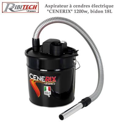 Aspirateur à cendres électrique Cenerix 1200w, bidon 18L
