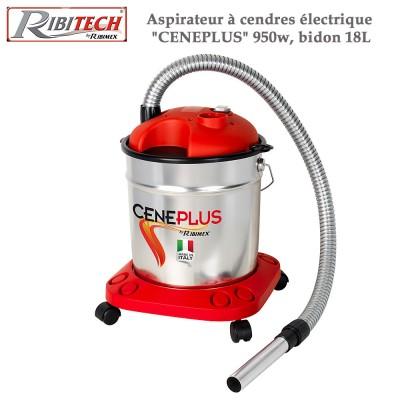 Aspirateur à cendres électrique Ceneplus 950w, bidon 18L