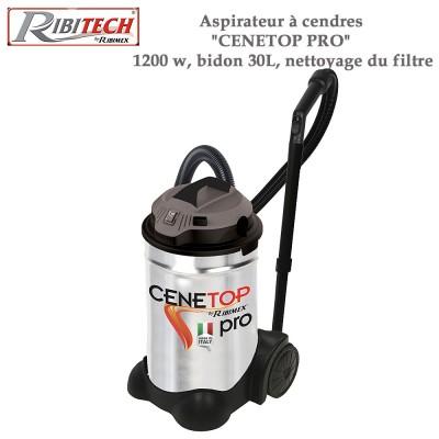 Aspirateur à cendres Cenetop Pro 1200 w, bidon 30L