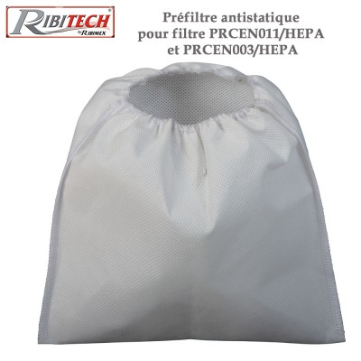 Préfiltre antistatique pour filtre PRCEN011/HEPA et PRCEN003/HEPA