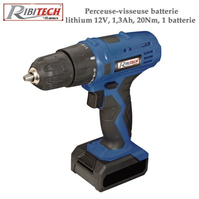 Perceuse-visseuse batterie lithium 12V, 1,3Ah