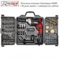 Perceuse-visseuse électrique 810W + 92 pces forets