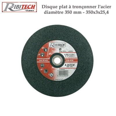 Disque plat à tronçonner l'acier diamètre 350 mm